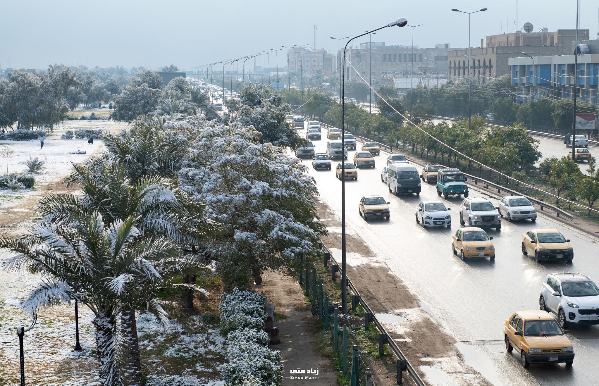 Ultra-rare snowfall in Baghdad