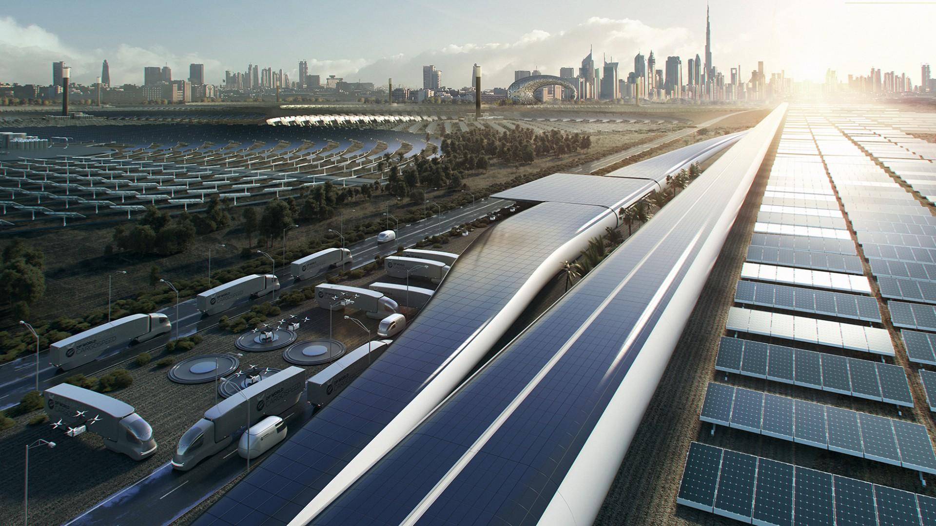 Hyperloop cargospeed transportation