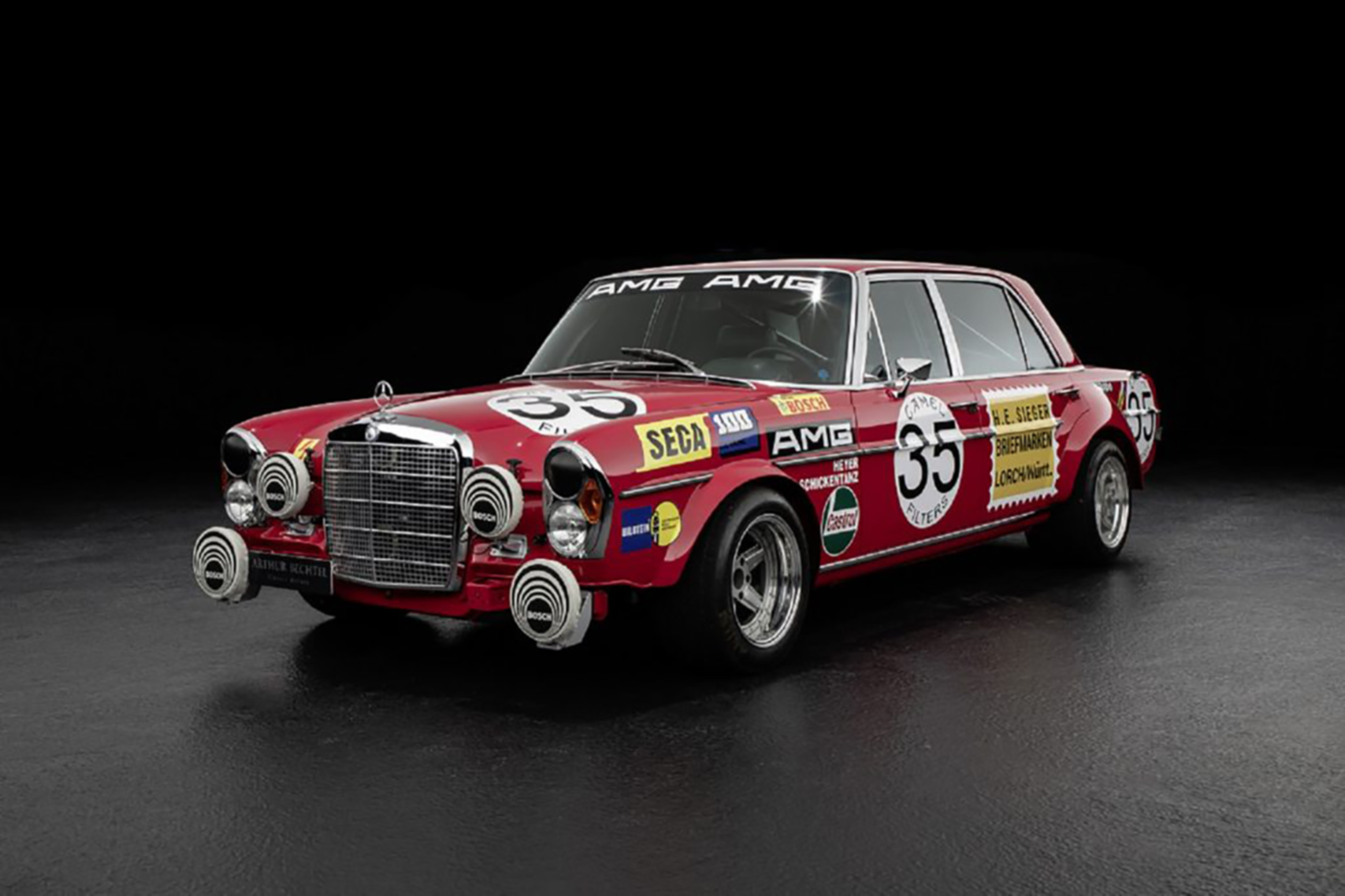 The Red Pig – Mercedes 300 SEL 6.8 AMG