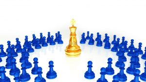 gold chess king
