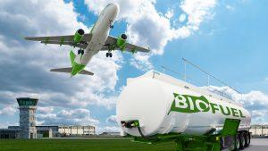 Airplane and biofuel tank